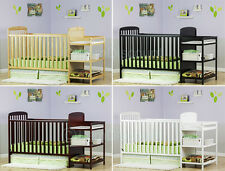 3 In 1 Convertible Baby Crib Toddler Bed Changing Table Set Nursery Dresser