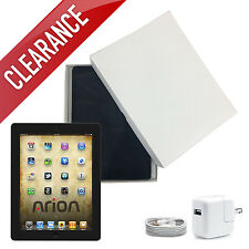 Apple iPad 2 16GB,32GB or 64GB Black Wi-Fi 3G AT&T/Verizon with 1-Year Warranty