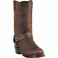 Dingo Mens Gaucho Leather Jay 11in Harness Cowboy Boots