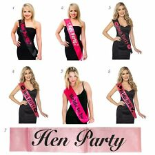 Bride To Be Hen Party Sashes Wedding Hen Night Accessories Pink Black New