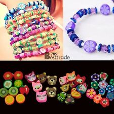 100 PCS Clay Beads DIY Slices Mixed Color Fimo Polymer Clay BT7E01