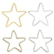 20pcs Alloy Star Shape Ring Pendants Charms Findings for Jewelry Making Crafts