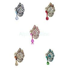 Vintage Fashion Rhinestone Butterfly Wedding Party Brooch Pin Broach Pick color