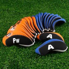 10pcs High Quality Padded Golf Club Iron Head Covers Protector Case Sock Set