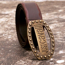 NEW Just Cavalli Leather Belt With Brass Studded Buckle Size 105 BNWT RRP £100