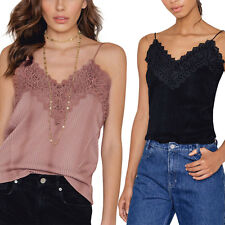 Womens Sleeveless Casual Fashion V-Neck Lace Vest Tee Shirt Tops Blouse Top Tank