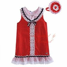 Girls Polka Dot Lace One-piece Dress with Headband Kids Party Wedding Pageant