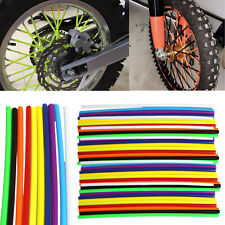 72 pcs Motocross Dirt Bike Enduro Wheel Rim Spoke Skins Cover For HONDA CR YZ KX