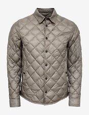 New Moncler Frederic Grey Quilted Lightweight Jacket Size 1 BNWT RRP £580