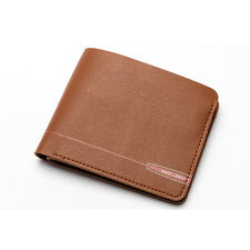Men Faux Leather ID/Credit Card Holder Clutch Wallet Bifold Zipper Purse Pockets