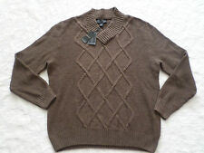KENNETH ROBERTS SWEATER MENS SIZE M V-NECK LONG SLEEVES NEW NWT