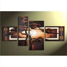 ABSTRACT HUGE WALL ART HOT 4PC MODERN OIL PAINTING ON CANVAS WITH FRAMED