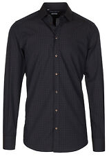 Dolce & Gabbana Men's 'GOLD' Dark Brown Check Button Down Dress Shirt