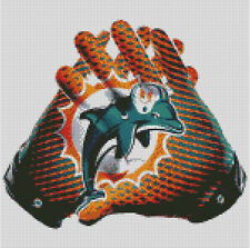 Cross stitch chart, Pattern, Miami Dolphins, NFL, Football, USA, Picture