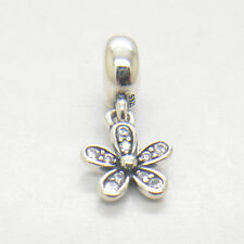 Genuine Authentic S925 Sterling Silver Dazzling Daisy Clear CZ Charm Bead