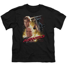 AIRWOLF TV Show Cast of Characters Licensed Youth T-Shirt S-XL