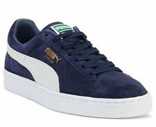MENS PUMA SUEDE CLASSIC PEACOAT NAVY BLUE WHITE GOLD SNEAKERS 35656851 *NEW*