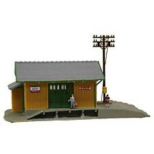 Model Power 2562 N-Scale Lighted Wayside Station with Figures Built-Up