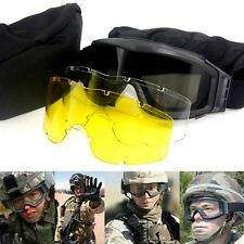 Army Tactical Goggles Sunglasses Glasses for Men Airsoft Paintball Goggles NEW