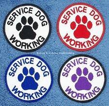 1 SERVICE DOG WORKING PATCH 3 INCH Danny & LuAnns Embroidery assistance support