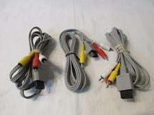 Lot of 3 Official Nintendo Wii AV Cables RVL-009 Audio Video