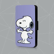 Snoopy Purple Dog Just Cool Friendship Leather Phone Case Flip Cover L692