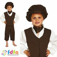 CHILD PERIOD VICTORIAN URCHIN DRESS UP OUTFIT AGE 4-12 boys fancy dress costume