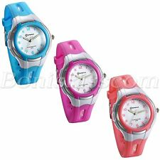 Student Boys Girls Candy Color Arabic Numberals Waterproof Quartz Wrist Watch