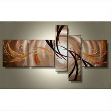 Abstract Huge Wall Decor Oil Painting Modern Handmade Art Canvas With Framed 5PC