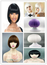 Multicolor New BOB Short Straight  Hair Wig Cosplay fashion Party Full Wigs