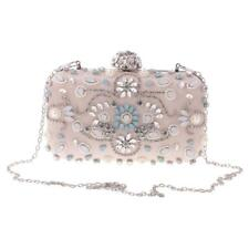 Women Lady Crystal Chain Clutch Messenger Evening Party Shoulder Handbag Purse
