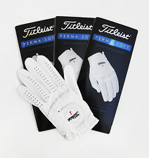 Three(3) New Titleist Perma Soft Left Gloves for Right Handed Golfer, Pick Size