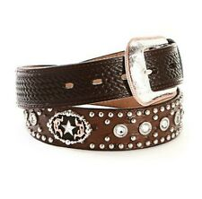 3D Belt Ostrich Print Star Men's Concho Belt #5834