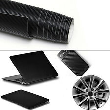 2m x 600mm 3D Carbon Fiber Vinyl Wrap Roll Film Decals Car Home Wallpaper Black