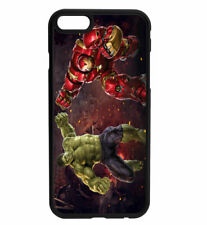 Marvel DC Avengers Hulk - Iron Man Rubber Phone Case for iPhone & Samsung D3