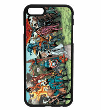 Marvel DC Avengers Comic Book Art Rubber Phone Case for iPhone & Samsung D15