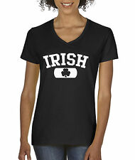 New Way 135 - Women's V-Neck Irish Clover St Patricks Day Ireland
