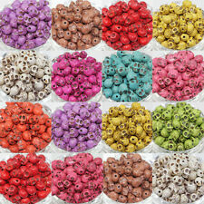 Wholesale Mixed Turquoise Skull Head Howlite Spacer Loose Beads Jewelry 9X7MM