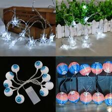 10LED BATTERY POWERED STRING FAIRY PARTY XMAS WEDDING CHRISTMAS LIGHT DECORATION