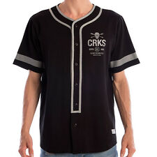 Crooks & Castles The Hoods Baseball Shirt in Black NWT Crooks& Castles FREE SHIP