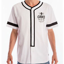 Crooks & Castles The Hoods Baseball Shirt in White NWT Crooks FREE SHIPPING