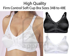 Women Ladies Firm Control Soft Cup Bra Unpadded Non Wired Full Cup Size 34 - 48