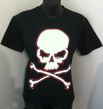 Devast8 Black Skull & Crossbones Goth Metal Punk Rockabilly WOMEN'S T-SHIRT NEW