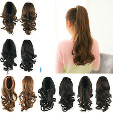 Fashion Ponytail Clip Curly Horsetail Synthetic Hair Wigs Hair Elastic Scrunchie