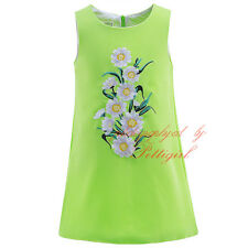 Toddler Girls Embroidered Daisy Flower Dress Princess Birthday Party Pageant