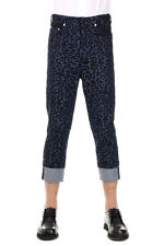 NEIL BARRETT New Men Blue Black embroidery cotton Skinny Jeans Pants Made ITALY