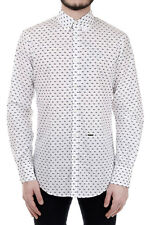 DSQUARED2 New Airplanes Patterned Cotton Shirt Made in ITALY Nwt