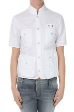 DSQUARED2 New Women white Cotton Stretch Blouse Shirt Original Made in Italy NWT