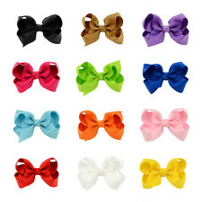 Girls Clip Alligator Ribbon Princess 10Pcs Kid Hair Bows Hairpin Grosgrain Baby
