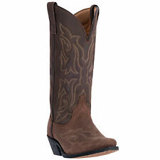 Laredo Womens Brown Leather Runaway Gaucho 12in Snip Toe Cowboy Boots